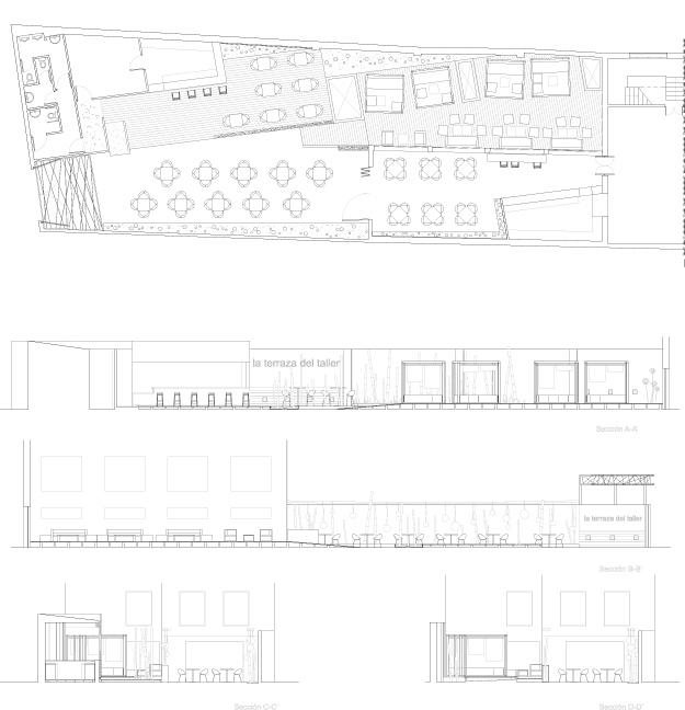 planos de un restaurante bar recuperaci n urbana de aparcamiento y almac n a