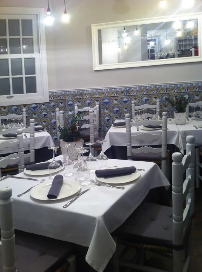 Restaurante comedor La huerta de Casa Ricardo m+ reforma diseño 2013 Miguel Fernández