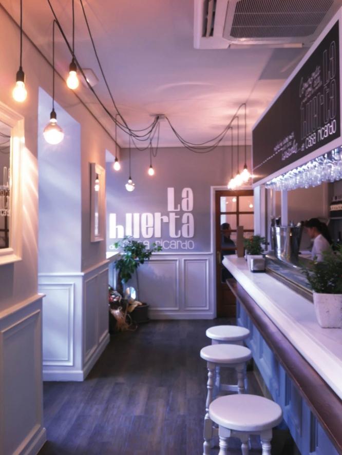 Restaurante comedor La huerta de Casa Ricardo m+ reforma diseño 2013 Interiorismo