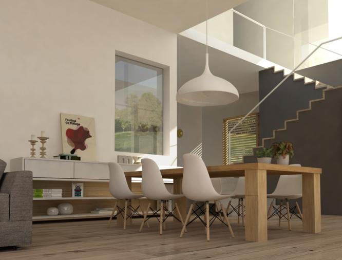 Dise o interior vivienda unifamiliar en cantabria m for Vivienda interior